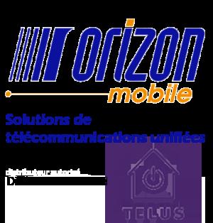 Maison connectée x orizon mobile logo